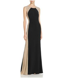 Bead-embellished Gown