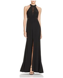 Illusion Crisscross Gown