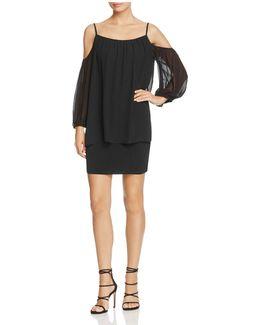 Cold-shoulder Popover Dress