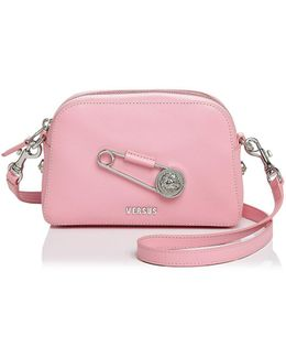 Safety Pin Leather Crossbody