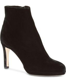 Julietta Velvet High Heel Booties