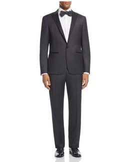 Square Textured Regular Fit Tuxedo