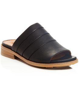 Gayle Leather Slide Sandals