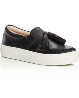 Kayleena Tassel Slip-on Platform Sneakers