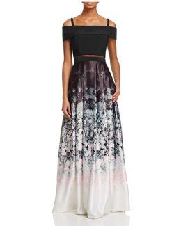 Floral Ombré Gown