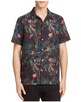 Cockatoo Print Slim Fit Button-down Shirt