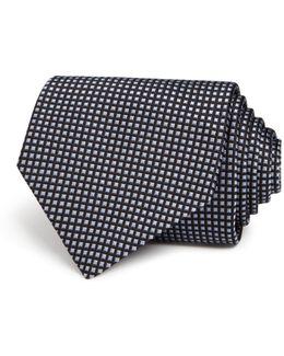 Micro Check Classic Tie