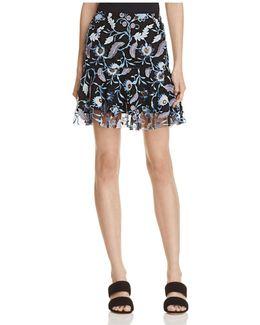 Jade Embroidered Skirt