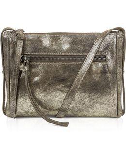 Marlowe Metallic Mini Leather Crossbody