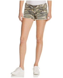 Keira Cutoff Shorts In Vintage Camo