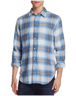 Plaid Flannel Regular Fit Button-down Shirt