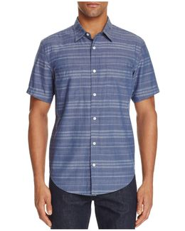 Stripe Chambray Regular Fit Button-down Shirt
