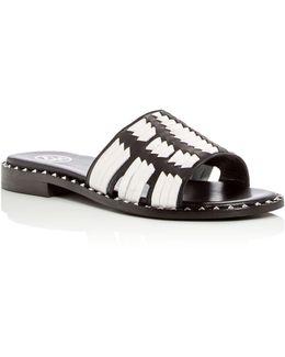 Playa Woven Slide Sandals