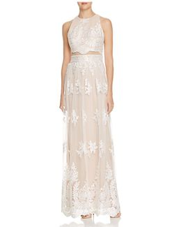 Cutout Lace Gown