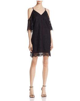 Cold-shoulder Trapeze Dress