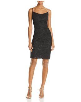 Shirred Lace Dress