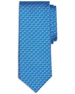 Speedboat Print Classic Tie