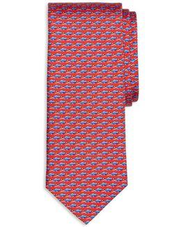 Square Link Print Classic Tie