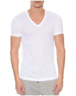 Mesh V-neck Shirt