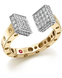 18k White And Yellow Gold Pois Moi Chiodo Ring With Diamonds