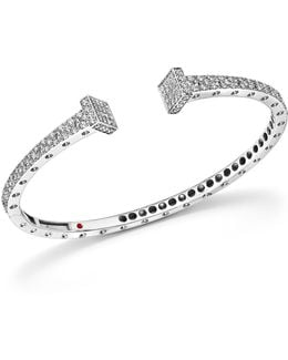 18k White Gold Pois Moi Chiodo Diamond Bangle