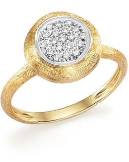 18k White And Yellow Gold Jaipur Ring With Diamonds