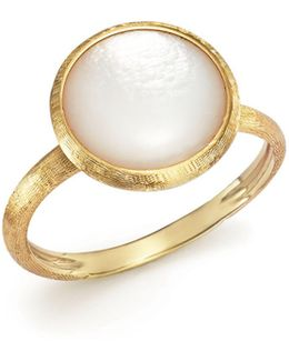 18k Yellow Gold Jaipur Ring With Mother-of-pearl