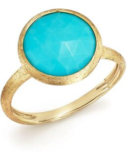 18k Yellow Gold Jaipur Ring With Turquoise