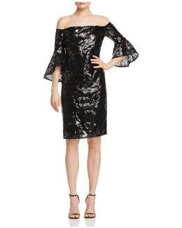 Sequin Off-the-shoulder Dress
