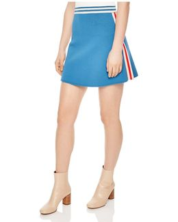 Filat Striped-trim Mini Skirt