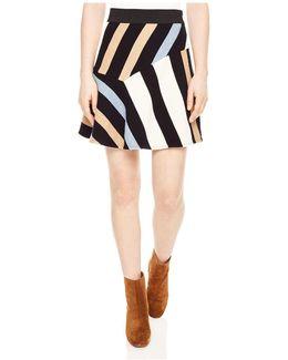 Killim Striped Mini Skirt