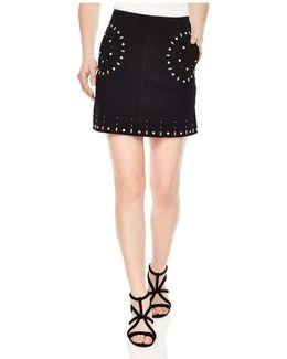 Colorado Studded Suede Skirt
