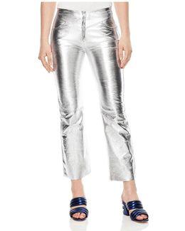 Iggy Metallic Leather Cropped Pants