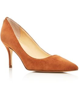 Tirra Suede Pointed Toe Pumps