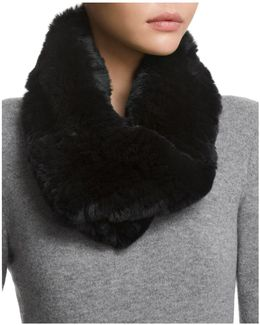 Twisted Rabbit Fur Loop Scarf