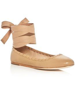 Baylie Ankle Tie Ballet Flats