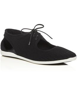 Elliot Woven Cutout Lace Up Sneakers