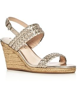 Indira Metallic Espadrille Wedge Sandals