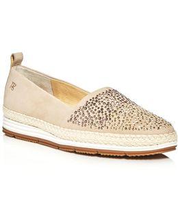 Lourdes Embellished Espadrille Platform Loafers