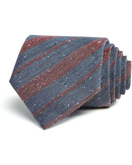 Donegal Tweed Alternating Stripes Classic Tie