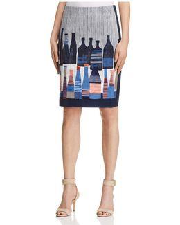 Bottle Print Skirt