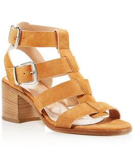 Bronson Caged Block Heel Sandals