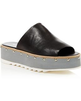 Float Studded Platform Slide Sandals