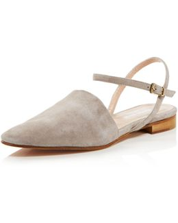 Mellow Suede Ankle Strap Flats