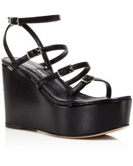 Penelope Strappy Platform Wedge Sandals