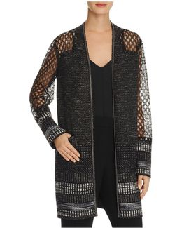 Connor Chain-embellished Open Front Jacket