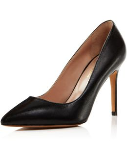 Genesis Leather Pointed Toe High Heel Pumps