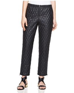 Lucien Quilted Faux Leather Pants