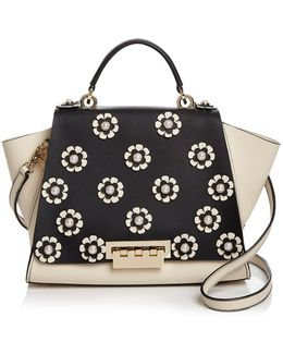 Eartha Iconic Soft Faux-pearl Floral Leather Satchel