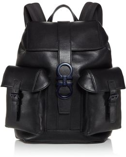 Gancio Trott Double Gancini Buckle Backpack